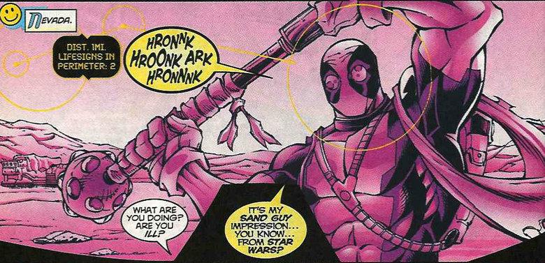 Hurrrr. Vol.1 comic #21.. yeah star wars crossovers Deadpool duh