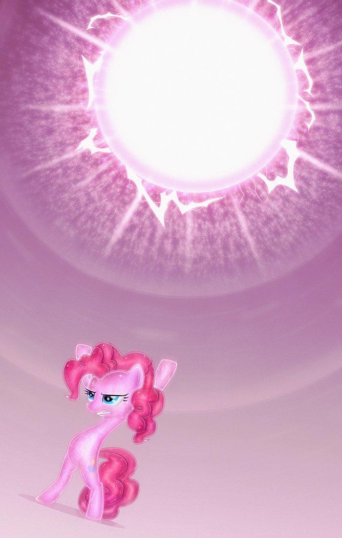 Hyperbolic Pinkie. uvx.deviantart.com/art/HyperBolic-Pin..... 3 Episodes later. Hyperbolic Pinkie uvx deviantart com/art/HyperBolic-Pin 3 Episodes later