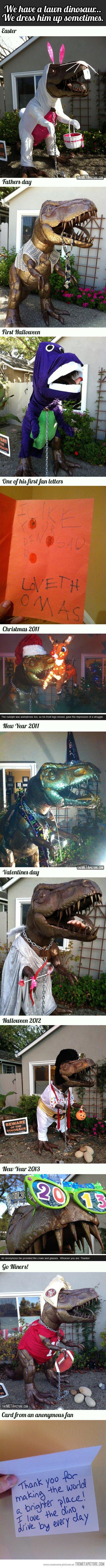 Lawn Dinosaur. . Behaved lawn dinsaur... We drew him . New 'Year era. Where does one acquire a lawn dinosaur? Lawn Dinosaur Behaved lawn dinsaur We drew him New 'Year era Where does one acquire a dinosaur?