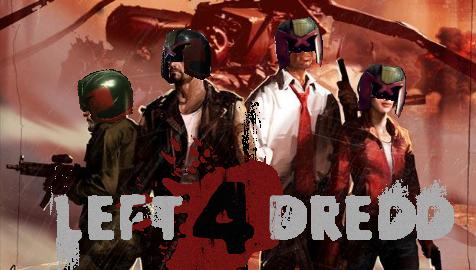 Left 4 Dredd. All 4 L4D survivors in Dredd helmets.. 1 green thumb for your effort. Plus Judge Dredd is something I can relate with judge dredd Dredd left 4 dead l4d survivors
