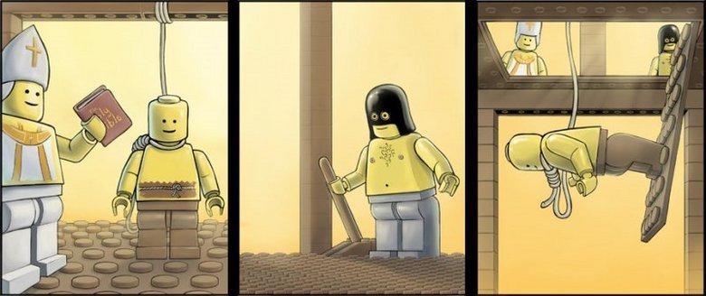 Lego Hanging. .. Y U So happy about executions? Lego Hanging Y U So happy about executions?