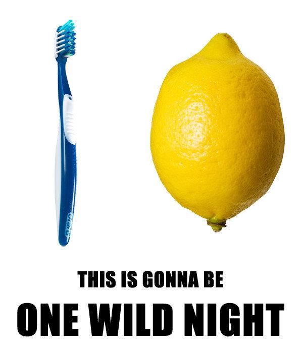 Lemons. . Ml! WIN] NIGHT lemon tothbrush