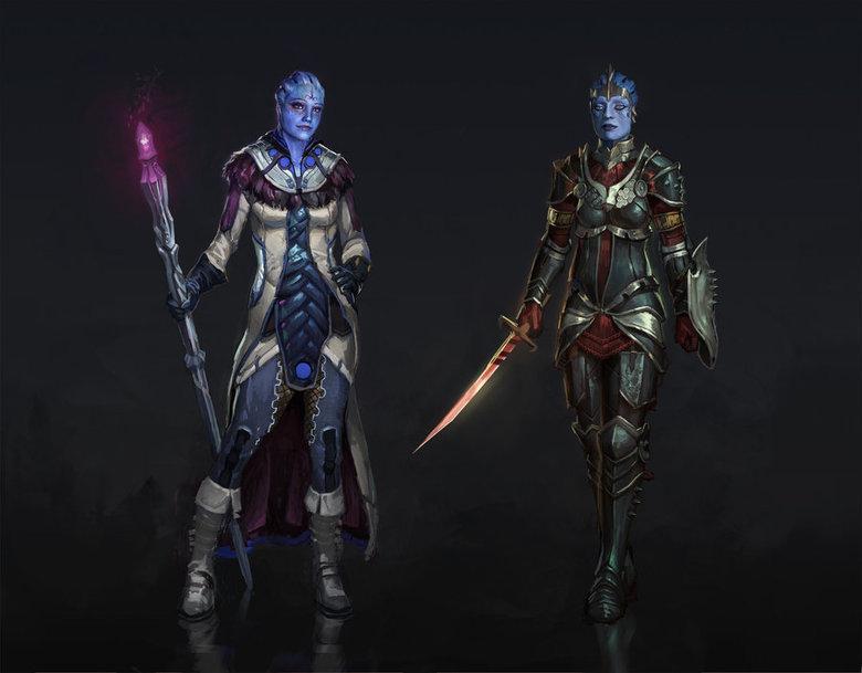 Liara and Samara Dragon Age. All credit to AndrewRyanArt Source:andrewryanart.deviantart.com/art/Drag.... Liara Tsoni Samara mass effect dragon age Blue asses