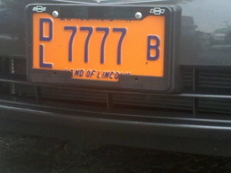 License Plate Quads. Impressive first person to roll quads wins. license plate qu
