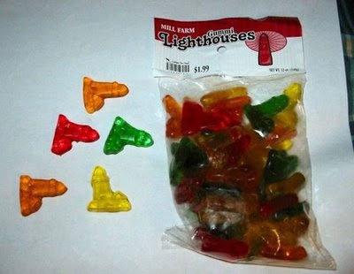 Lighthouse. Gummy candy.. gummy bears cndy sexy WTF funny pics
