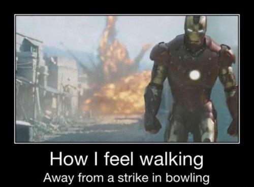 Like a Boss!. . How I feel walking Away from a strike in bowling Like a Boss! How I feel walking Away from strike in bowling