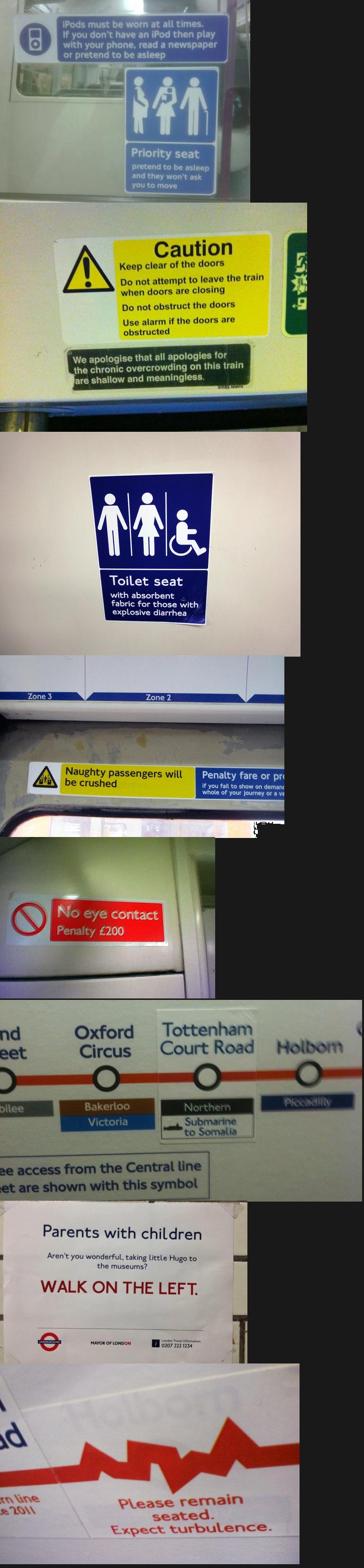 London underground signs found in London. . funny tube Kony london Underground