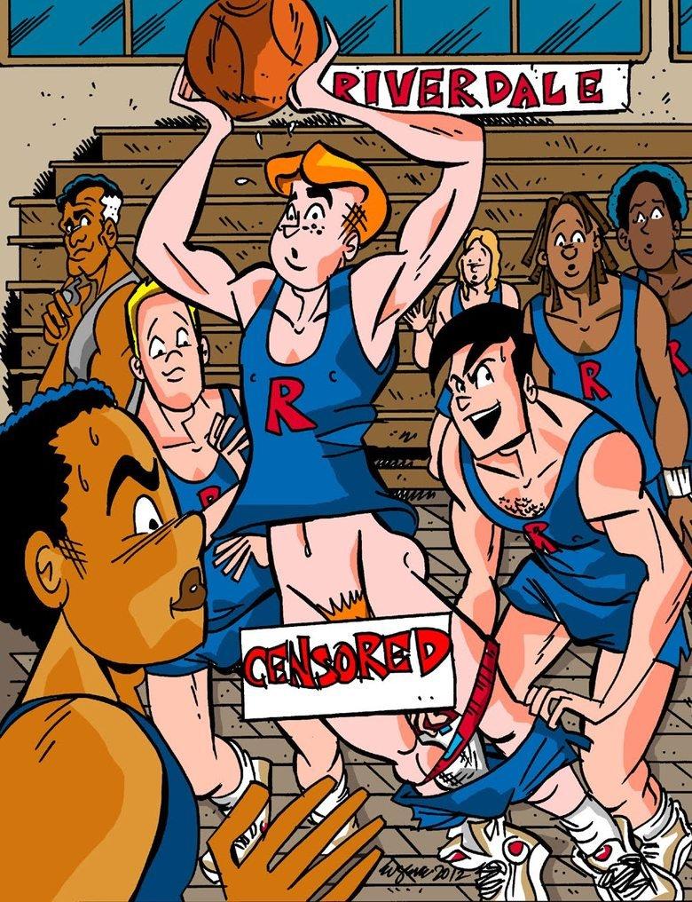 pantsed in basketball. pantsing cartoon.. You're a dick, Reggie. pantsed
