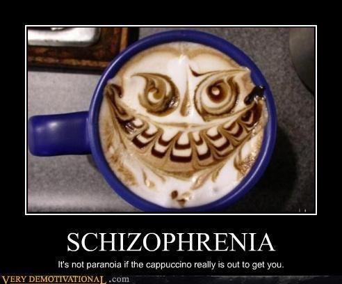Paranoid Coffee. IT'LL GET YA!. es ret pi' ofthis.. really is trut In get yaru. Paranoid Coffee shit bricks
