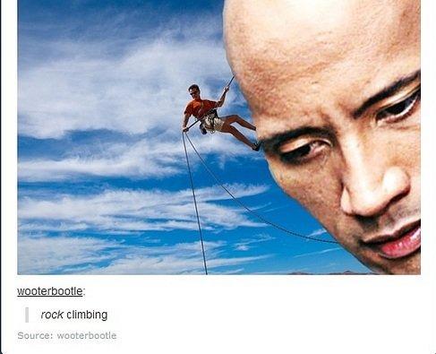 Pardon the pun. . rock climbing itroll. punbelievable funny tumblr Rock climbing