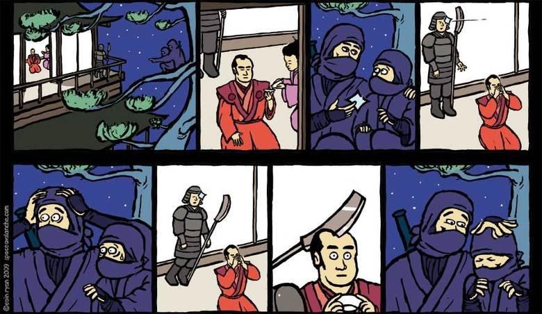 Parenting like a ninja!. Check out the artist: . Ninja boom headshot
