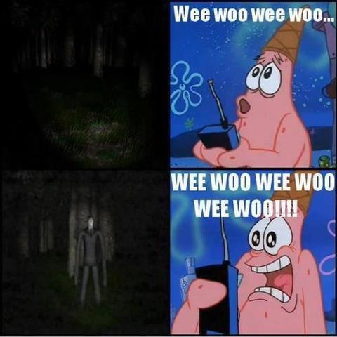 Patrick's scared of Slender. not mine. Patrick's scared of Slender not mine