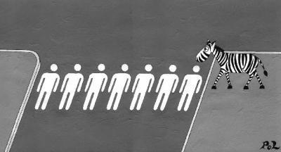 Pedestrian crossing. . zebra crossing
