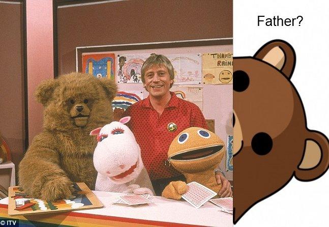 Pedobungle. .. ey suga pedobear pedo Bear children TV Show ITV CITV Rainbow zippy bungle George