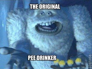 Pee ice cream is something. .. hey...it's lemon monsters Inc yeti the original pee drinker Snow Ice Cream
