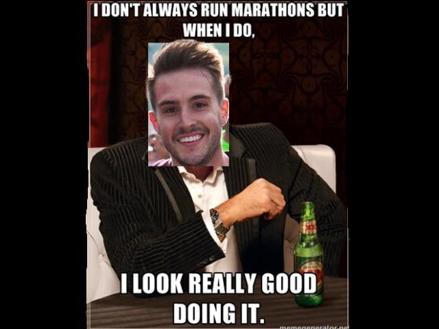 PHOTOGENIC GUY. . I ( anon giagantic: Photogenic guy looks really Good during marathons