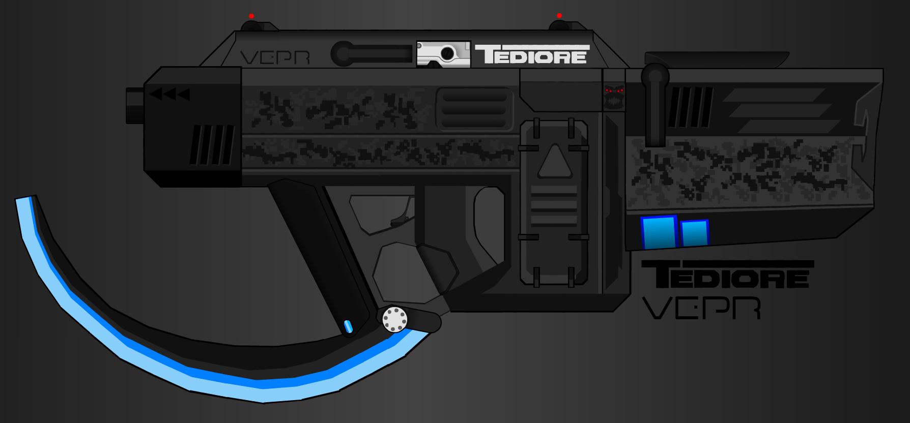 "Pimp My Gun Tediore - Urban Discus SMG. Tediore® Corporation/Vepr - SMG-12 Submachinegun ""Urban Discus"" -------------------- I think it looks pretty T pimp my gun"