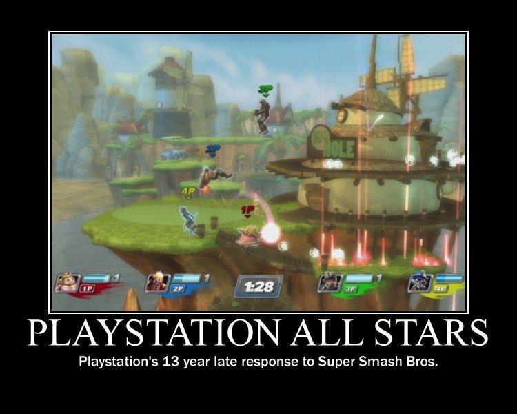 Playstation All Stars. . iria) Playstation' s 13 year late response to Super Smash Bros. playstation thre ps all stars Battle Royal super smash bros
