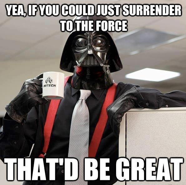 please leave the dark side...... . please leave the dark side