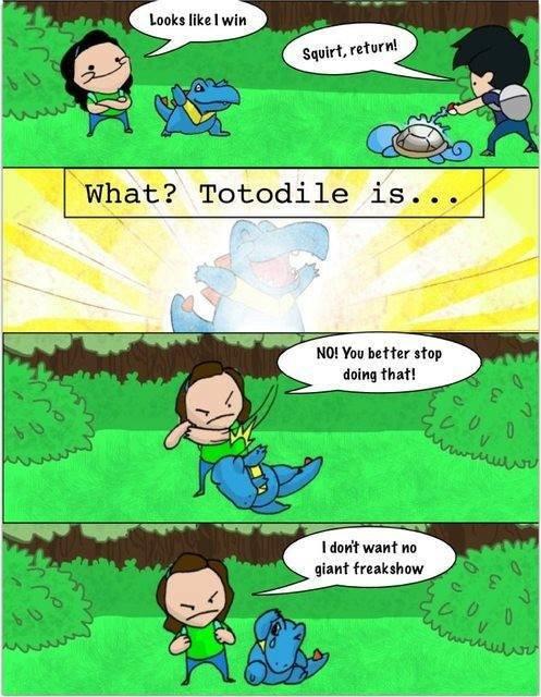 Pokemon Cancel Evolution. Source: www.facebook.com/ILovePokemonFanPage. I dun? want an giant freakshow Pokemon cancel evolution