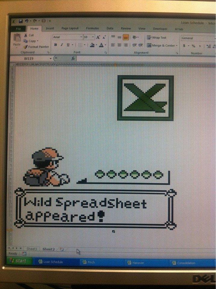 Pokemon Excel. .. I love excel art Pokemon Excel I love excel art