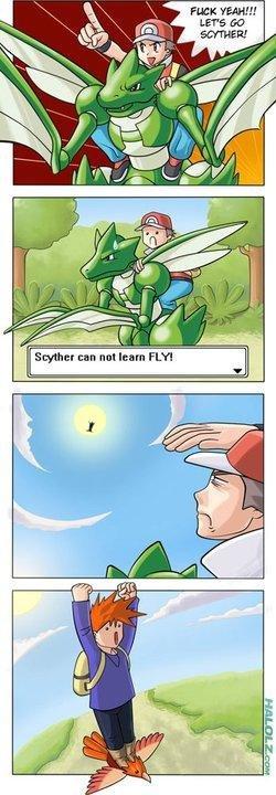 Pokemon Logic. .. Superman... scyther Fly