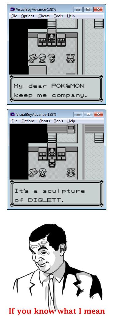 "Pokemon Love. <:3 )~. file Cheats Help file Cheats Help It' s a sculpture an? DIGLETT. "" If you kno what I mean Giraffe"