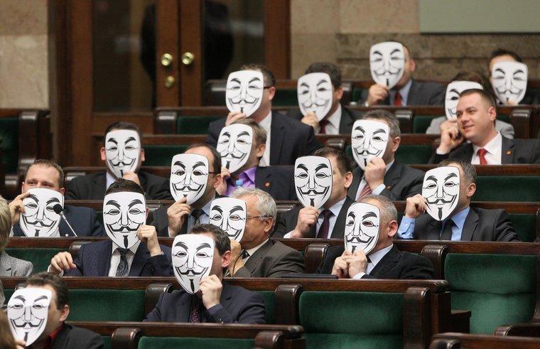 Polish politicians. .. I always forget about Mask Mondays. Polish politicians I always forget about Mask Mondays