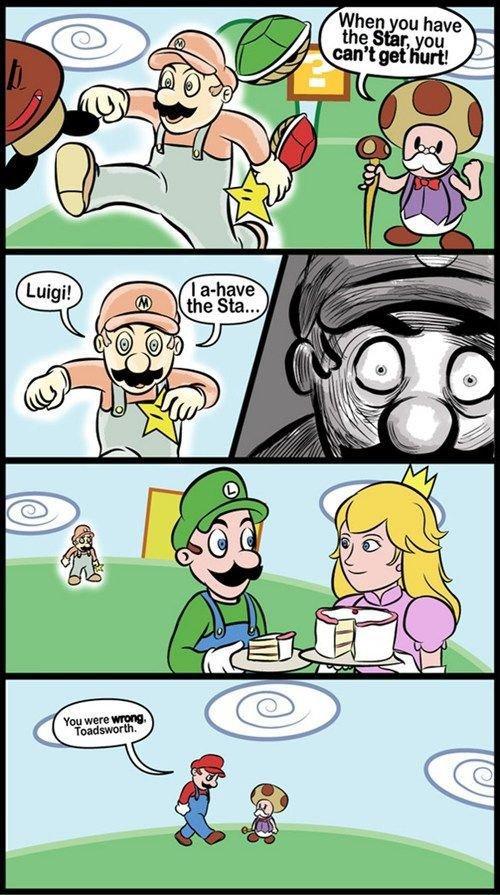 Power of mushroom. poor mario. asdasd asdasd