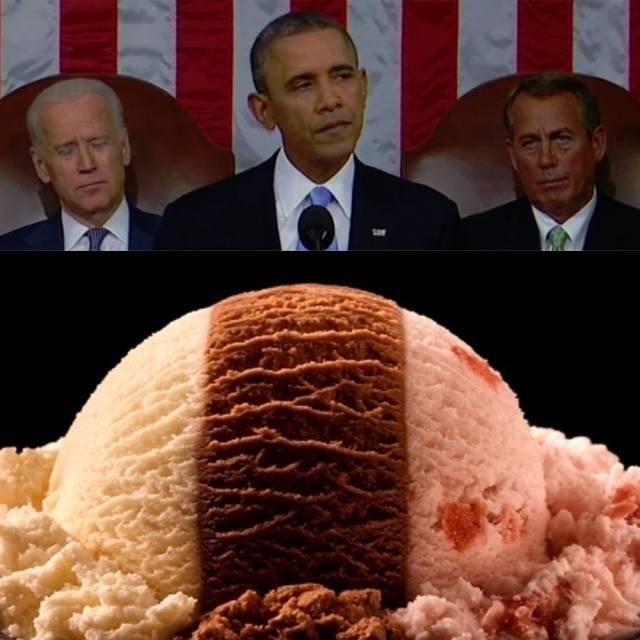 President IceCream. .. neopolitician President funny lol