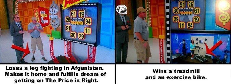 Price is Right. Umad, Veteran?. Price is Right Umad Veteran?