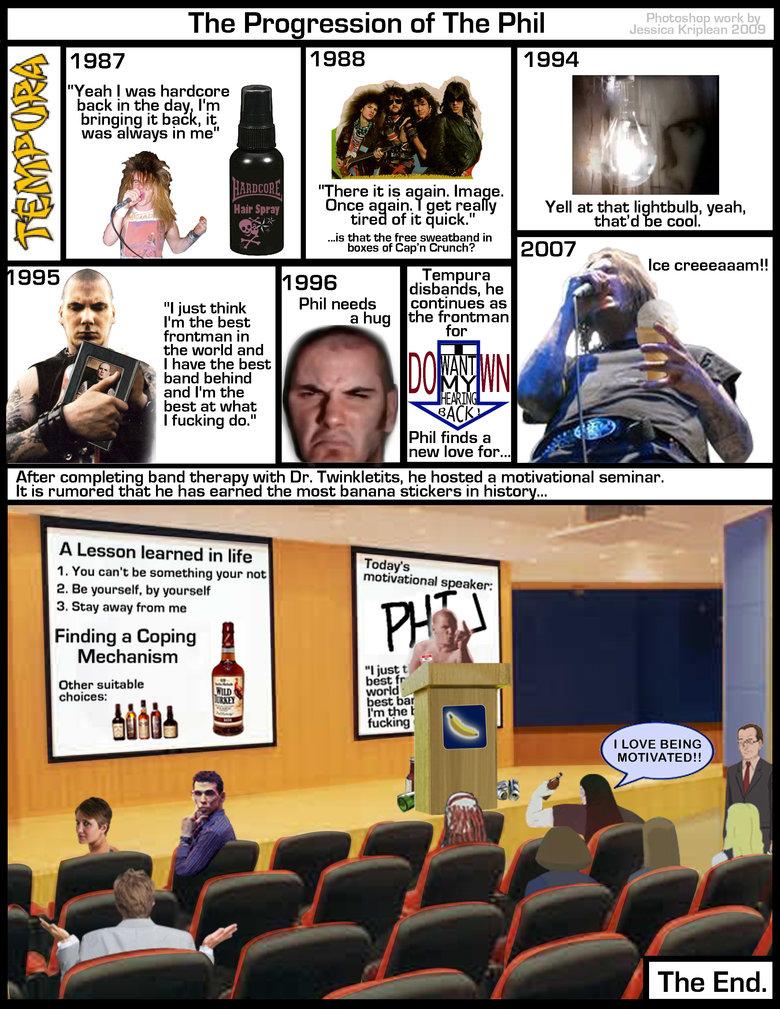 Progression of the Phil. I love making fun of Phil Anselmo.. YEAH ! PHIL ANSELMO !!!!! metalmusic metal Music pantera down phil anselmo anselmo dethklok Metalocalypse