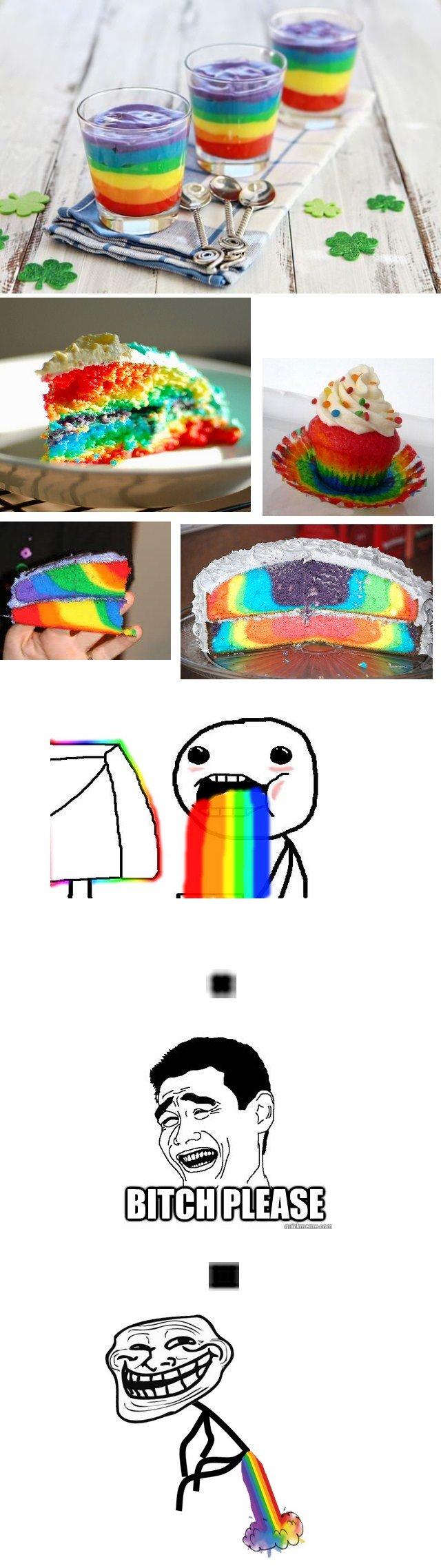 Pukin' rainbows?! Please.... . Pukin' rainbows?! Please