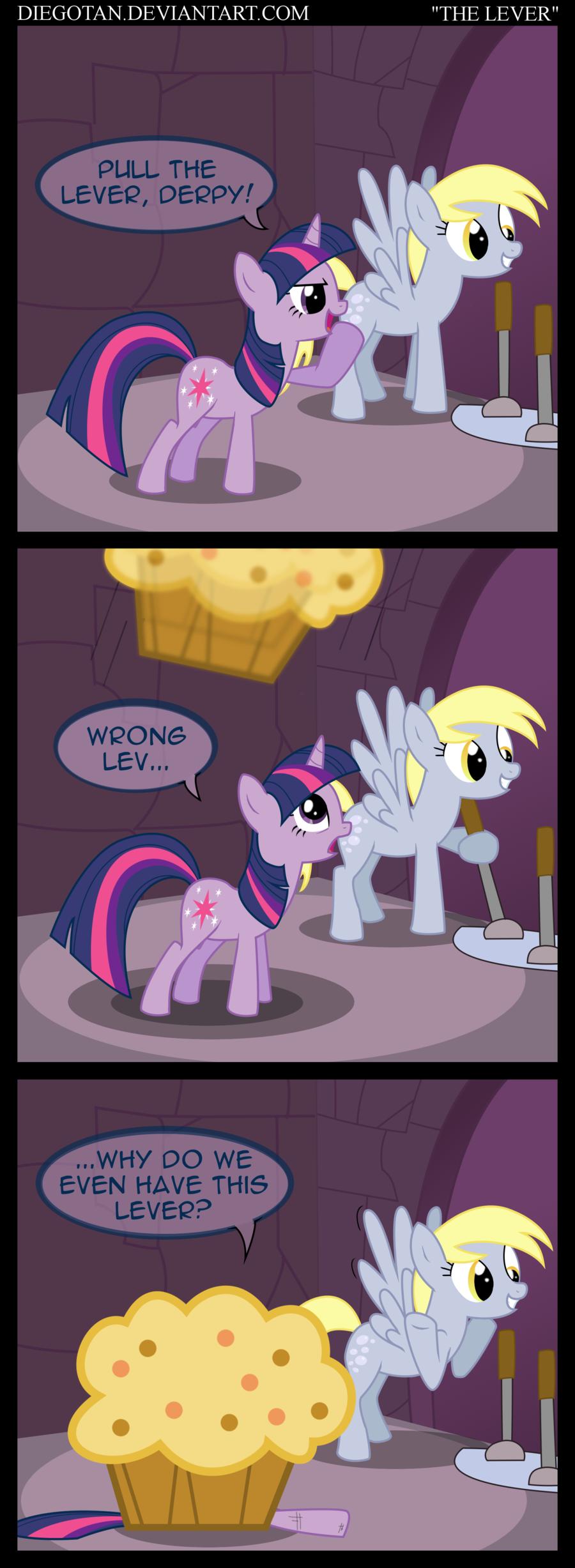 "Pull the Lever. diegotan.deviantart.com/ be welcome to visit.. DIEGOTAN. DEVIANTA RT. COM ""THELASER "" the lever diegotan comic ponies"