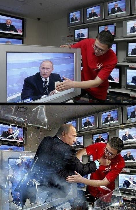 Putin. Angry Putin.. Looks like he's . . . Putin on the fritz putin