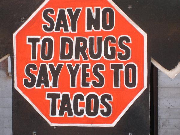 Tacos. mmmmmmm Tacos thumbz up if u like =].. Dammit, now i want a taco..... tacos
