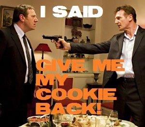 Taken. .. u mad? Cookie take Movie Guns