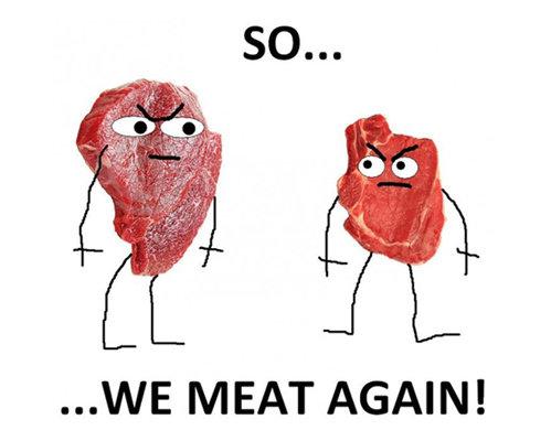 Terrible jokes are the best jokes!. . WE MEAT AGAIN!. Lol Terrible jokes are the best jokes! WE MEAT AGAIN! Lol