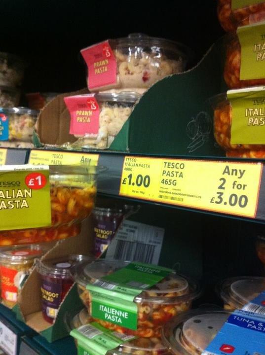 Tesco Bargain. 1 for £1 or 2 for £3. Tesco Bargain 1 for £1 or 2 £3