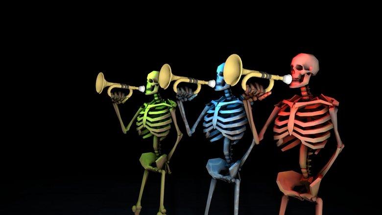 thank mr skeletal. Description doesn't exist... its thank mr skeltal you casual spooky scary ske