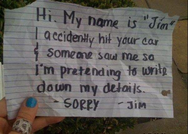 Thanks Jim. . thanks jim car hit Write Memo detail
