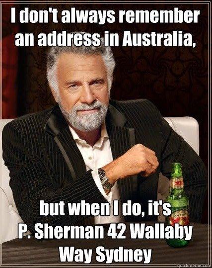 Thanks Nemo. . I thatt' t always remember an _ II Australia. lik but when I tht, '; E. Sherman In Wallaby wall. pic related. Thanks Nemo I thatt' t always remember an _ II Australia lik but when tht '; E Sherman In Wallaby wall pic related