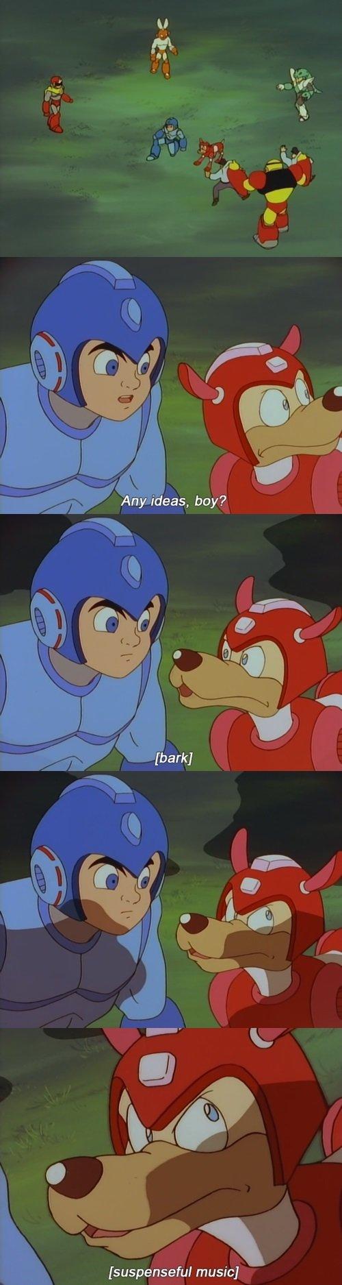 That might just be crazy enough to work.. Source - Mega Man. music] Anime mega man