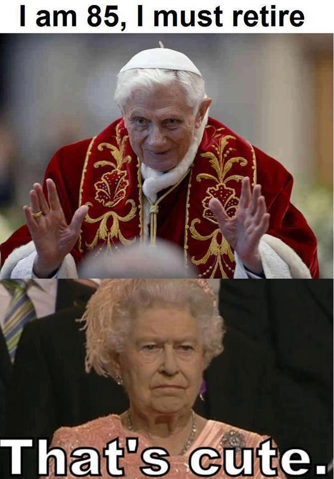 that's cute. . I ] 85, I retire. elizabeth is 86 that's cute I ] 85 retire elizabeth is 86