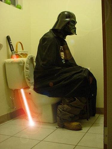 The Dark Side. . Darth Vader shit toilete FUNNYJUNK Disney