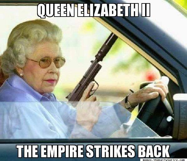 The Empire Strikes Back. . I I I In queen elizabeth empire