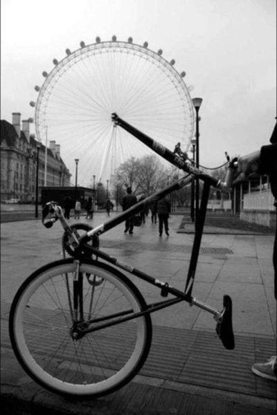 The eye. and a bicycle.. Eye-cycle? asdasdasd