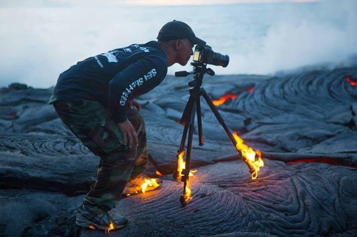 "the floor is lava. .. Looking through camera ""Yep, that's lava"" the floor is lava Looking through camera ""Yep that's lava"""
