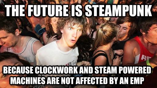 The Future. . mans: ' allrdy' rii' k an STEM! I' realization future Steampunk clockwork