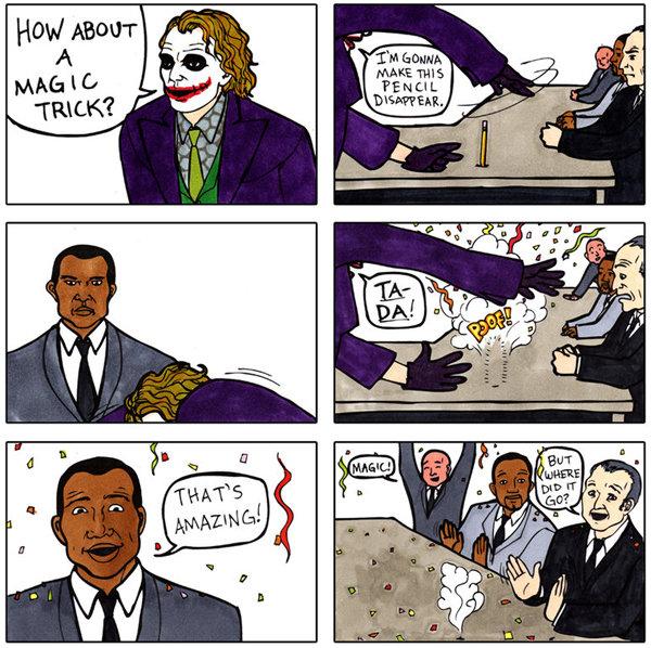 The Joker is an Amazing Magician. He's legit stuff.. op's magic trick joker amazing Magician legit stuff batman dark knight